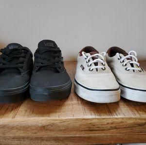2 pairs of Van's sneakers